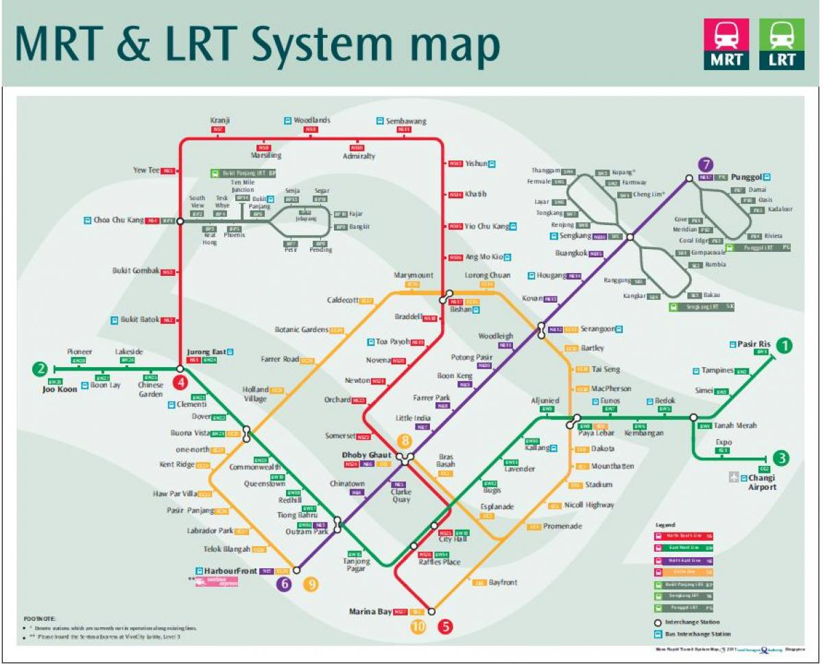 lrt route map Singapore