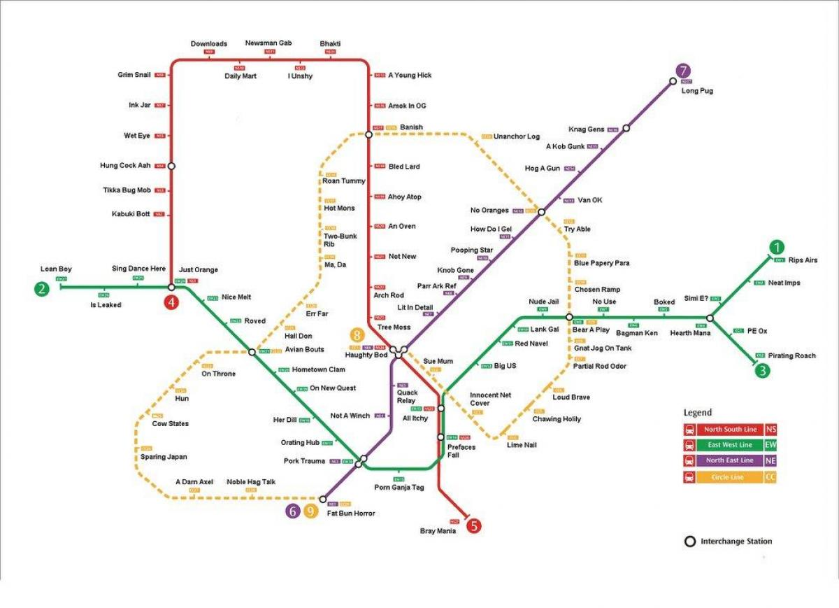 Singapore mrt station map
