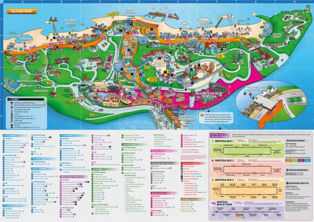 sentosa map attractions