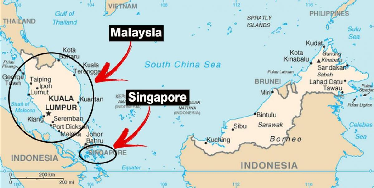Singapore In World Map Map Map Of Singapore In World Map Singapore