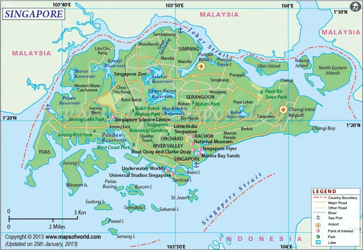 Singapore location on map