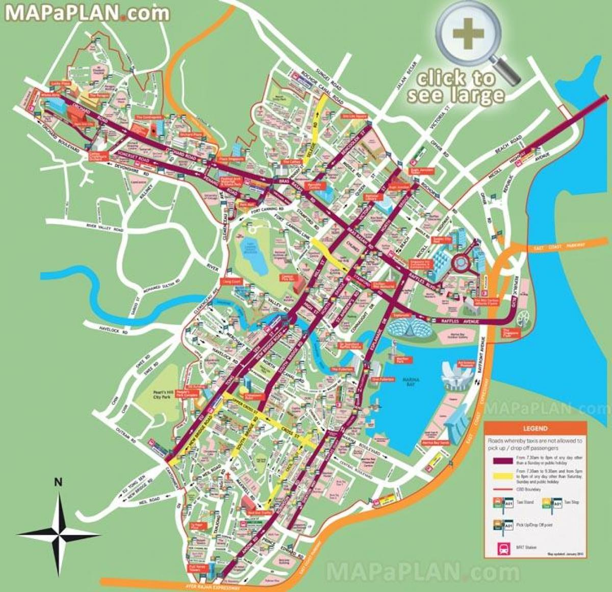 street map of Singapore