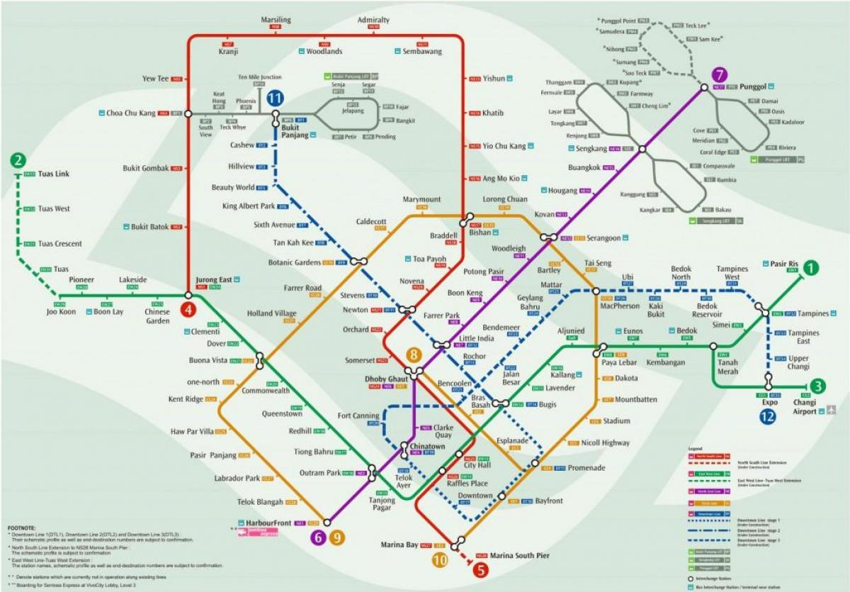 Singapore Subway Map Map Map Of Singapore Subway Map Singapore