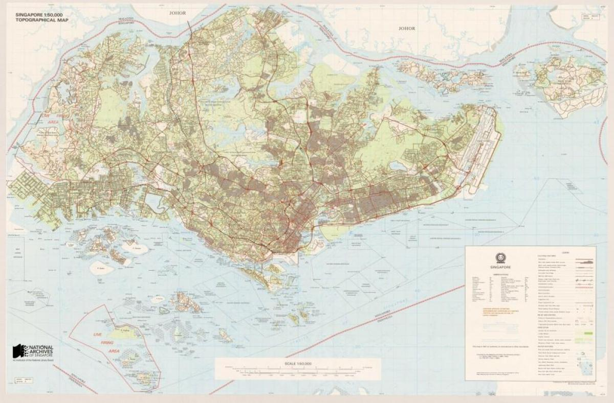 map of Singapore topographic