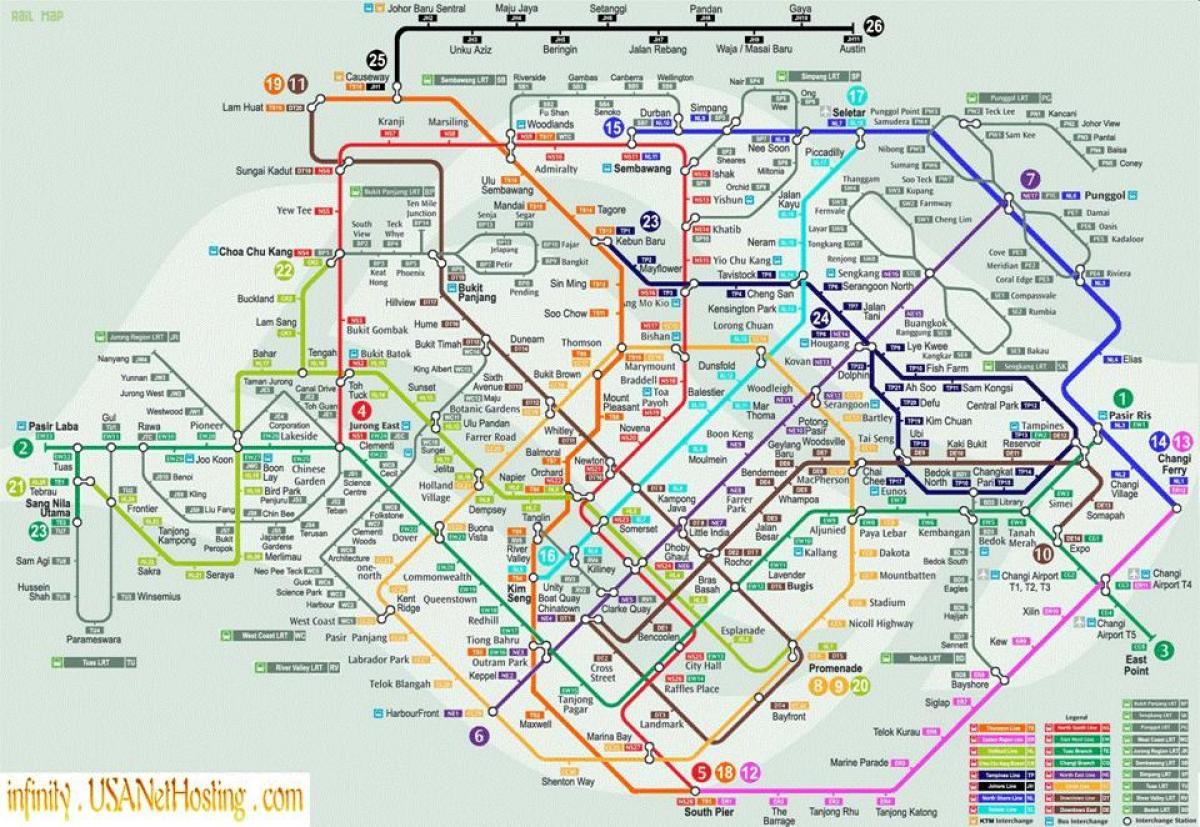 map of Singapore transport
