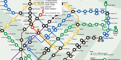 Mrt train map Singapore
