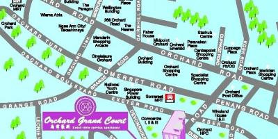Orchard road Singapore map