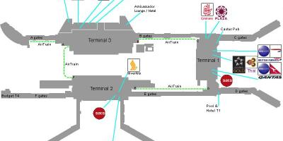 Map of Singapore airport