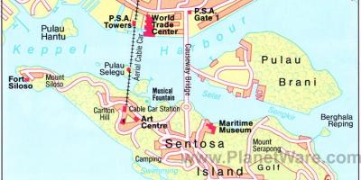 Map of Singapore attractions