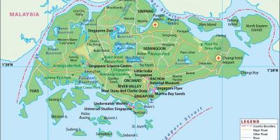 Map of Singapore city