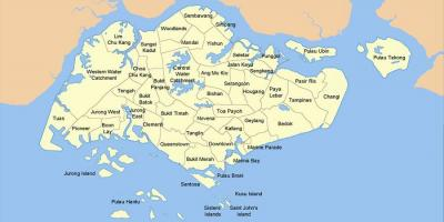 Map of Singapore country