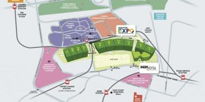 Map of Singapore expo