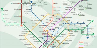 Map of mrt Singapore