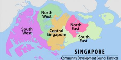 Map of Singapore region