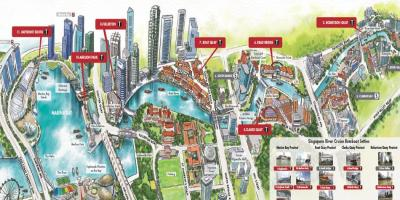 Map of Singapore River Cruise