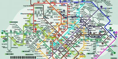 Singapore train station map
